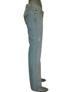 Джинсы женские светлые клеш от колена