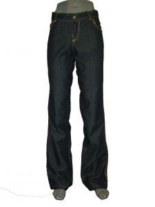 жіночі джинси прямі темно сині