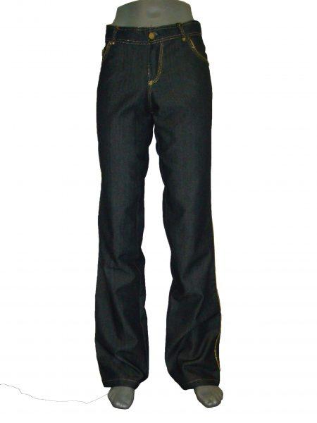женские джинсы прямые темно синие
