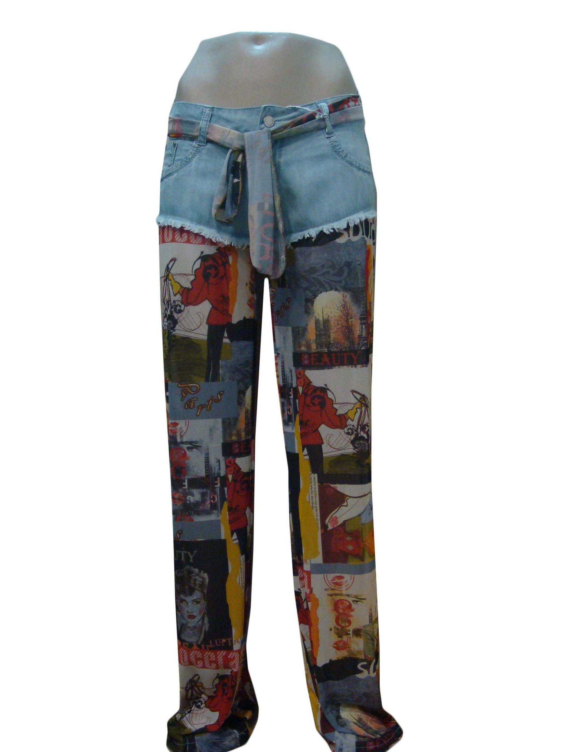Шорти-брюки жіночі, джинсові, комбіновані