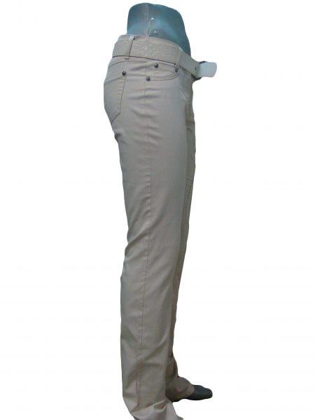 Штани жіночі, бежеві, з візерунком на стегні