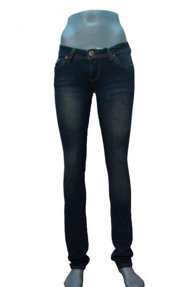 DE GOLF джинсы женские, узкие, потертые, синие