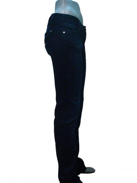 Джинсы женские, темно-синие, прямые