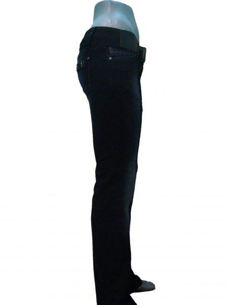 Джинси жіночі, чорна терка, кльош від коліна
