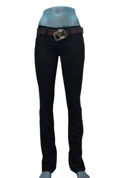 Штани жіночі, коричневі, стрейч, джинсовий крій