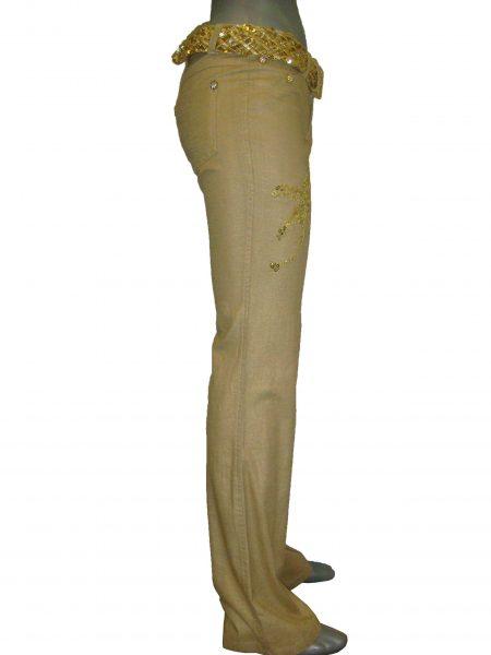 SW, Джинсы, легкие, бежевые, расширенные от колена