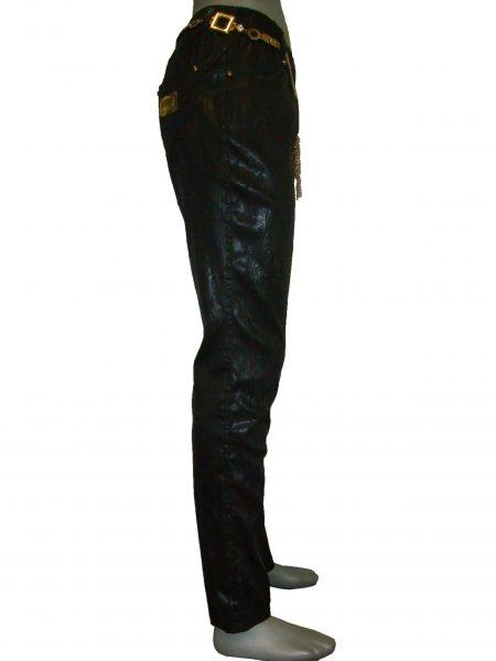 Лосіни жіночі чорні, з металевим поясом