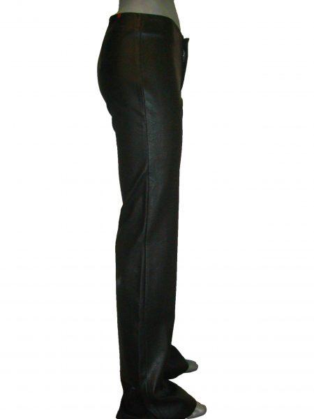 Шкіряні, жіночі штани, кльош від коліна