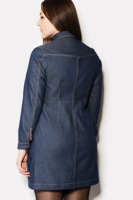 Джинсовое короткое платье SOLU