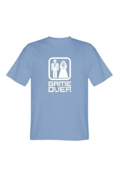 Футболка мужская Game Over голубая