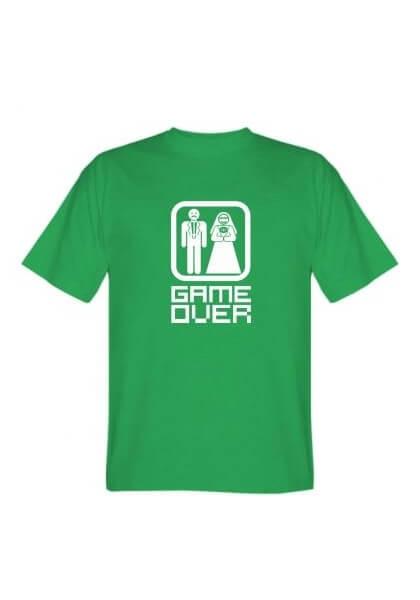 Футболка мужская Game Over зеленая