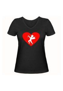 Женская футболка Амур чёрная