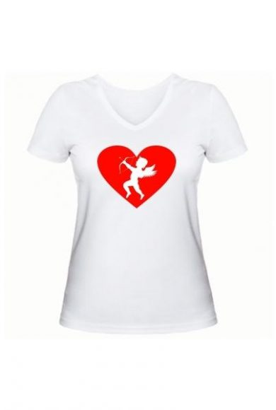 Женская футболка Амур белая