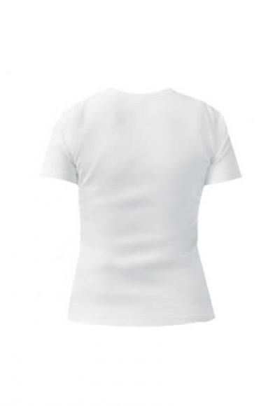 Женская футболка Кот Саймона на фоне заката белая