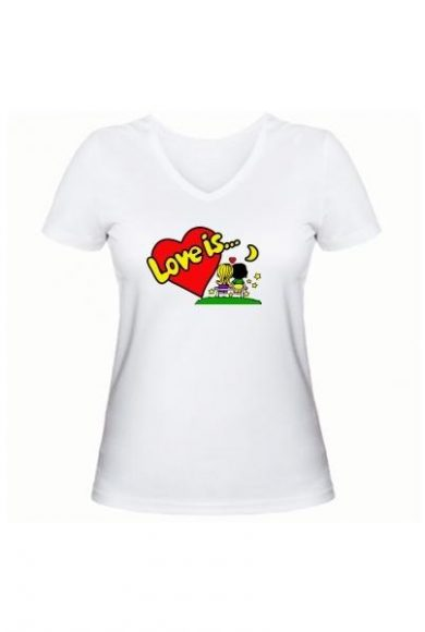 Женская футболка Love is... белая