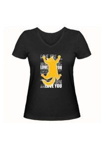 Женская футболка Love you чёрная