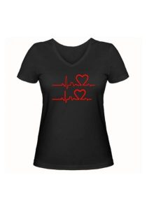 Женская футболка В ритме любви чёрная