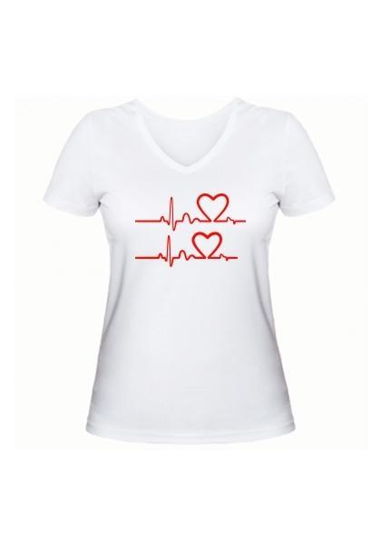 Женская футболка В ритме любви белая