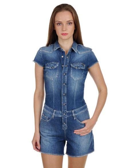 Женский джинсовый комбинезон GAS
