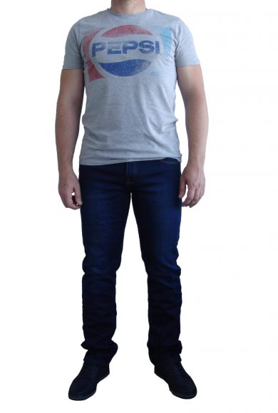 Чоловічі джинси JROKKO, утеплені, темно сині # J02