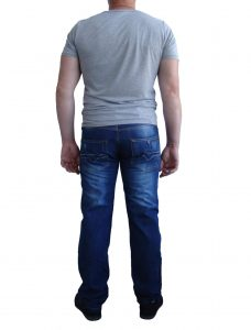 Чоловічі джинси, сині з засвітами