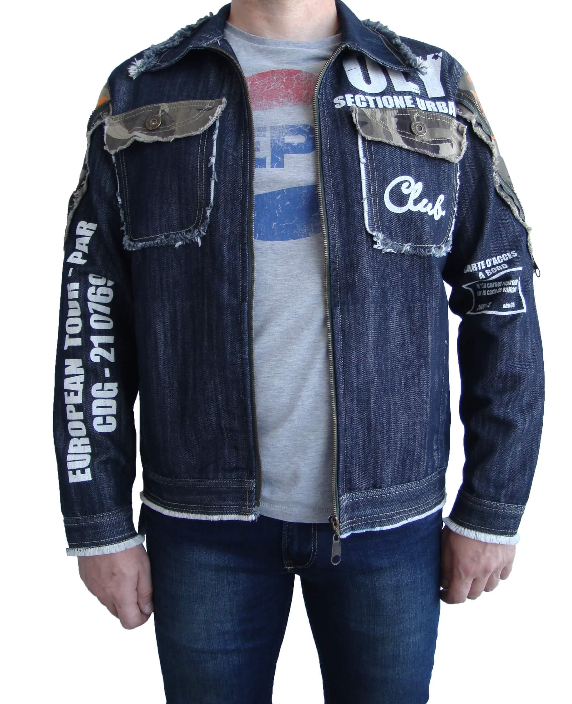 Мужской джинсовый пиджак CARVIM