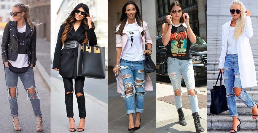 Рваная джинса: история тренда