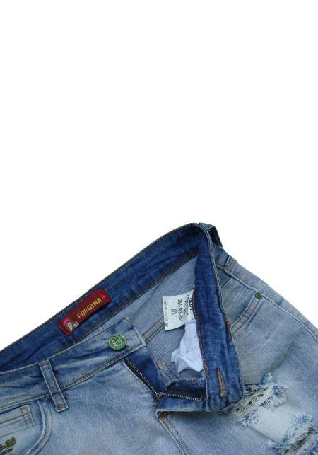 Рваные джинсовые шорты Lady Forgina