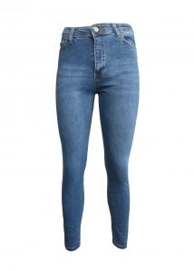 женские узкие джинсы с высокой посадкой