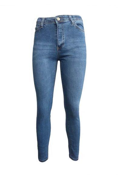 жіночі вузькі джинси з високою посадкою