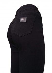черные женские узкие джинсы с высокой посадкой